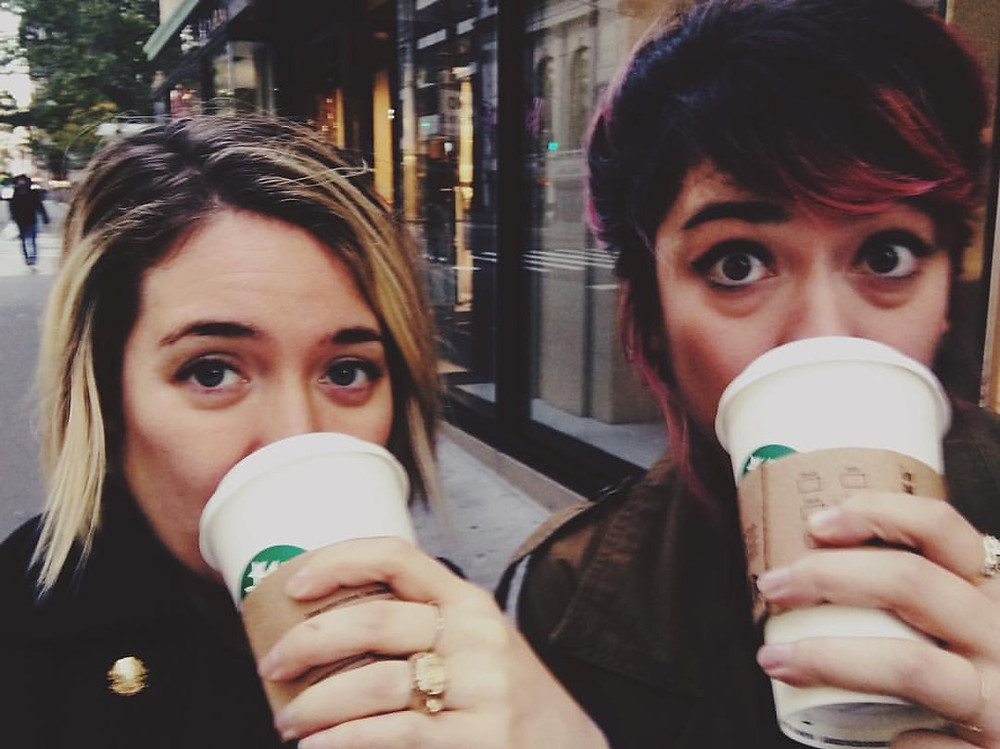 Eyebags and coffee - the two FCF staples.
