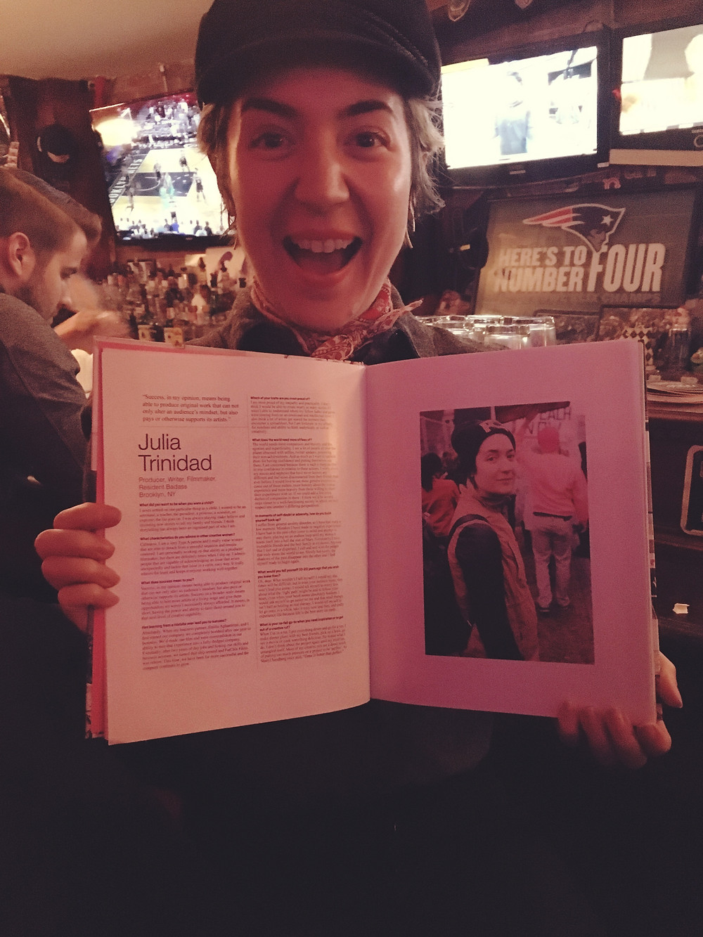 Photo of Julia Trinidad with Book.