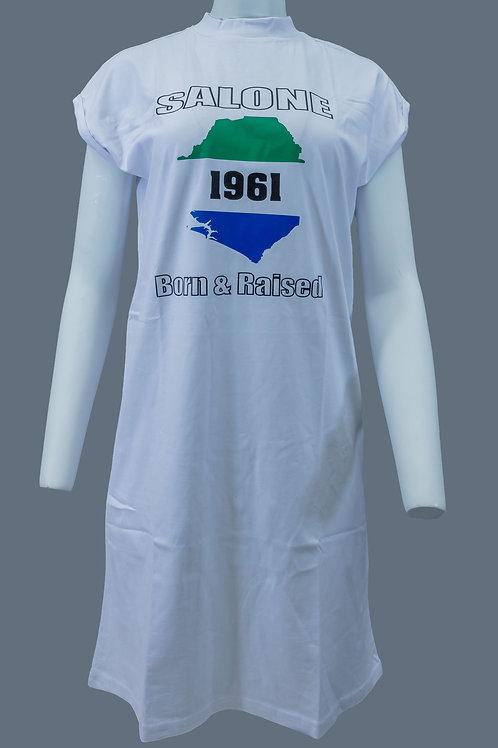 LIMITED EDITION SALONE 1961 BORN&RAISEDLADIES SHOULDER DRESS