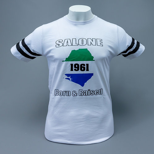 LIMITED EDITION SALONE 1961 BORN&RAISED UNISEX STRIPE T-SHIRT