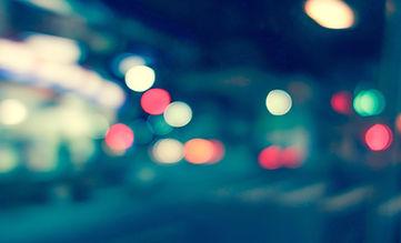 추상 도시의 불빛