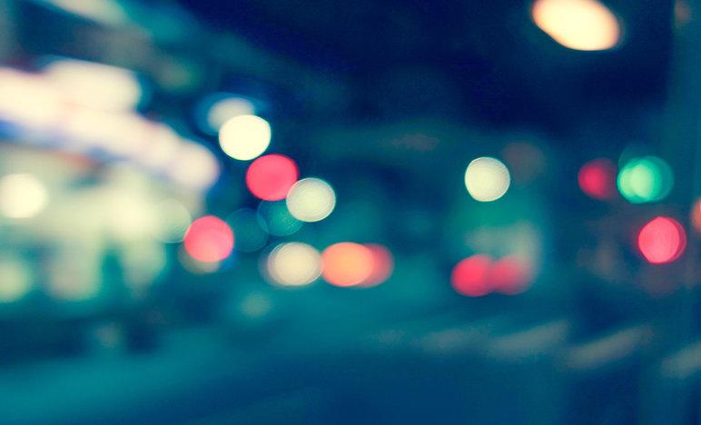 Luzes abstrato da cidade