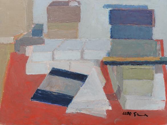 still life on red table