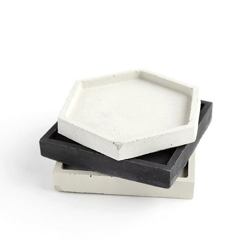 Handmade Concrete Candle Plate
