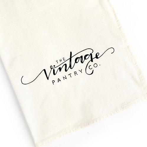 Vintage Pantry Co. Logo Tea Towel