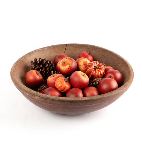Primitive Wooden Fruit Bowl