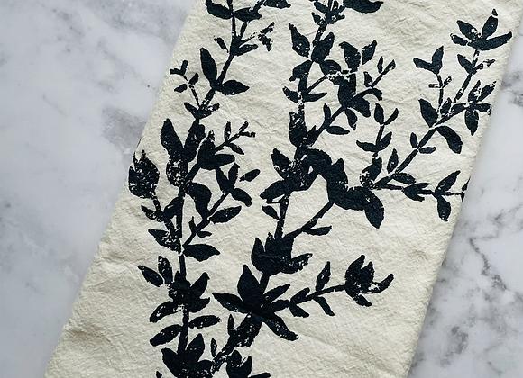 Darling Bower Cotton Tea Towel - Thyme