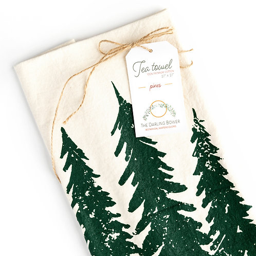 Evergreen Cotton Tea Towel