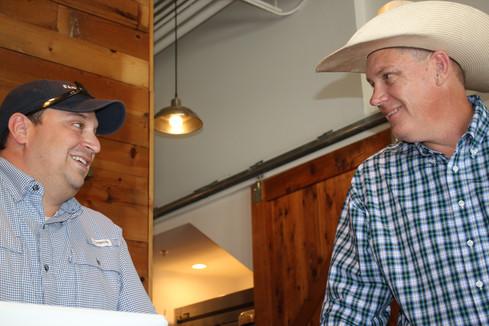 Pat and Chris Wilkingson @ Farm Luck Soda Fountain in Waxahachie