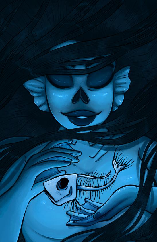 Skeleton Mermaid