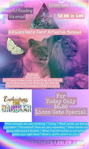 8:8 LION GATE TAROT SPREAD