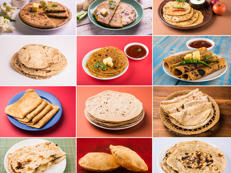Indian breads - Kinds of flour and dishes to consume them with