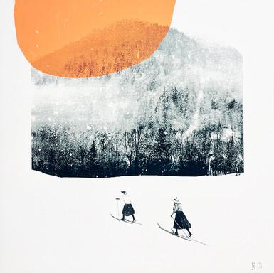 Les petites skieuses