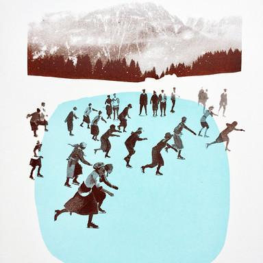 Les patineuses bleues