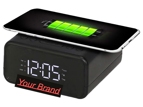 Radio Clock with wireless charging and BT