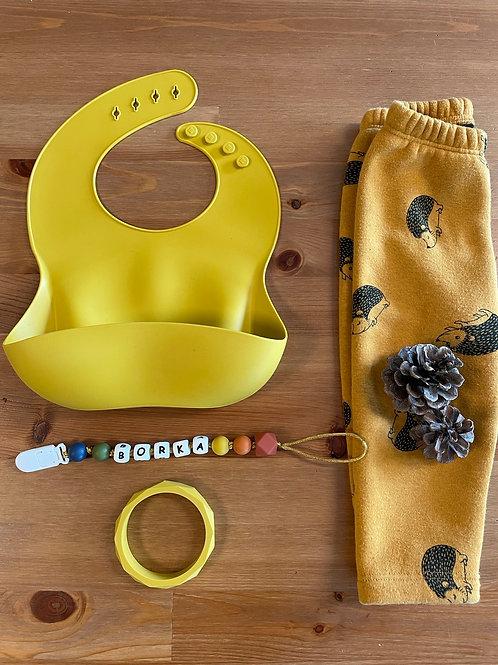 Baba-Mama közepes szett  - mustard