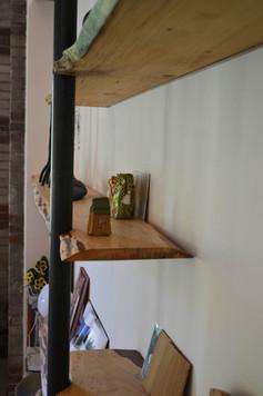 Wand planken i.c.m. staal 5