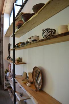 Wand planken i.c.m. staal 4