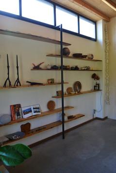 Wand planken i.c.m. staal 8