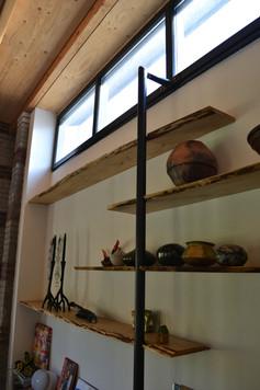 Wand planken i.c.m. staal 6