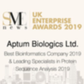 UK Enterprise Awards 2019- Aptum Biologi