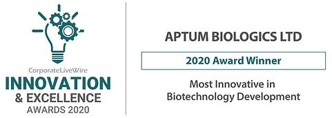 Innovation award 2020 APTUM BIOLOGICS LT