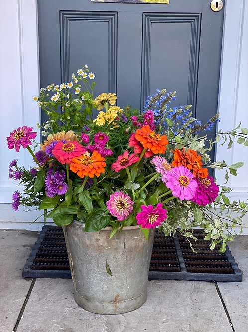 Large Bucket of Blooms