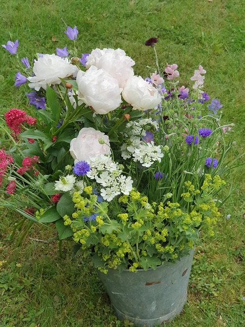 Large Flowers Arranger's Bucket
