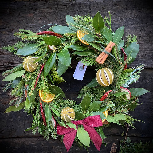 Luxury Mulled Wine Wreath