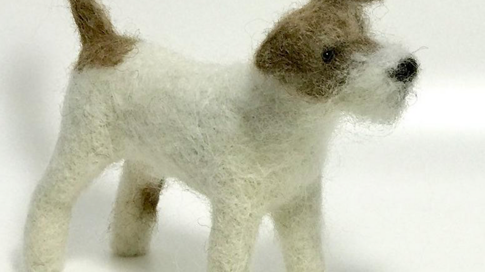 "Jack Russell dog needle felting kit -  - ""oh so very challenging"" kit"