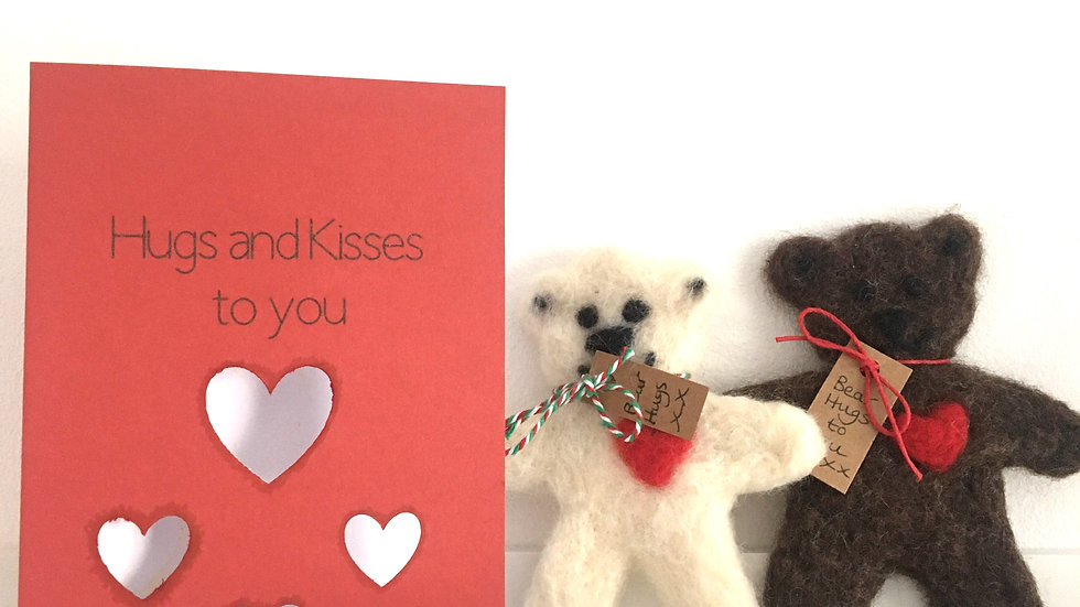 Huggable Bear Card Kit - sending love to you