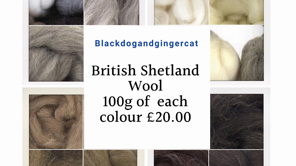 British Wool Natural Colours Shetland Wool  Pack of 4