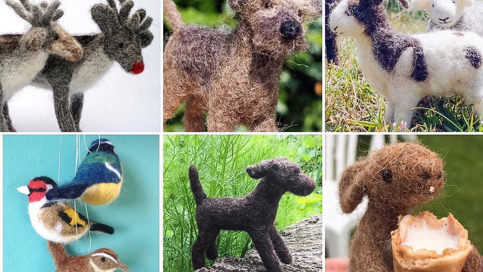 Needle felting kits - 2 Kit Special Offer- lots to choose from