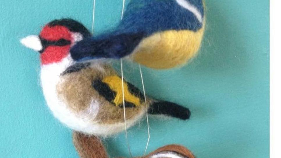British birds needle felt Kit - more challenging kit
