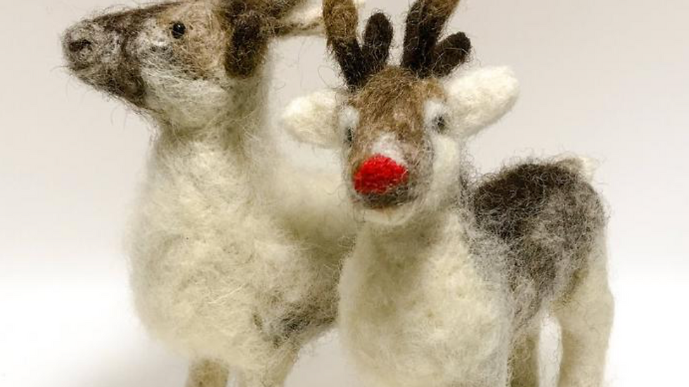 Robin and Reindeer Christmas Special - Needle felting kits - Special Offer