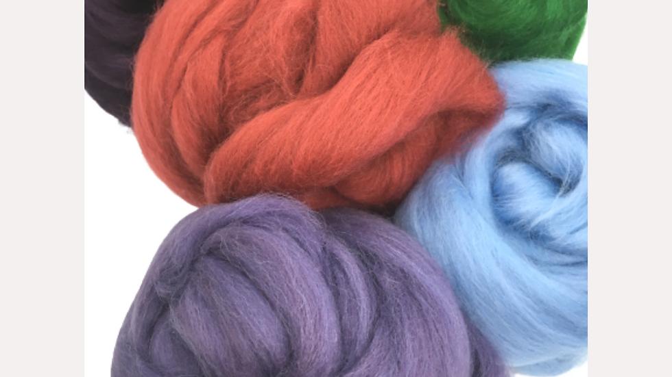 Shetland Top  New Colours ideal for Roving  Needle Felt  wet felt 50g