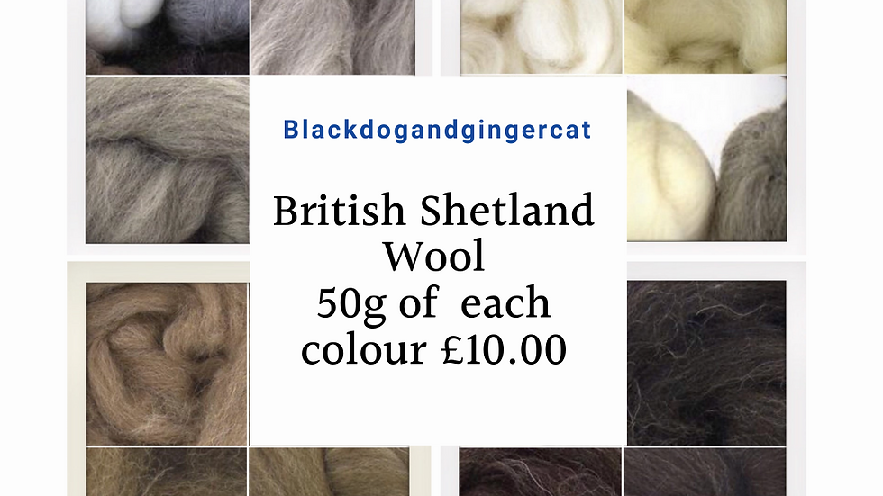 British Wool Natural Colours Shetland Wool 50g of each  Pack of 4 colours