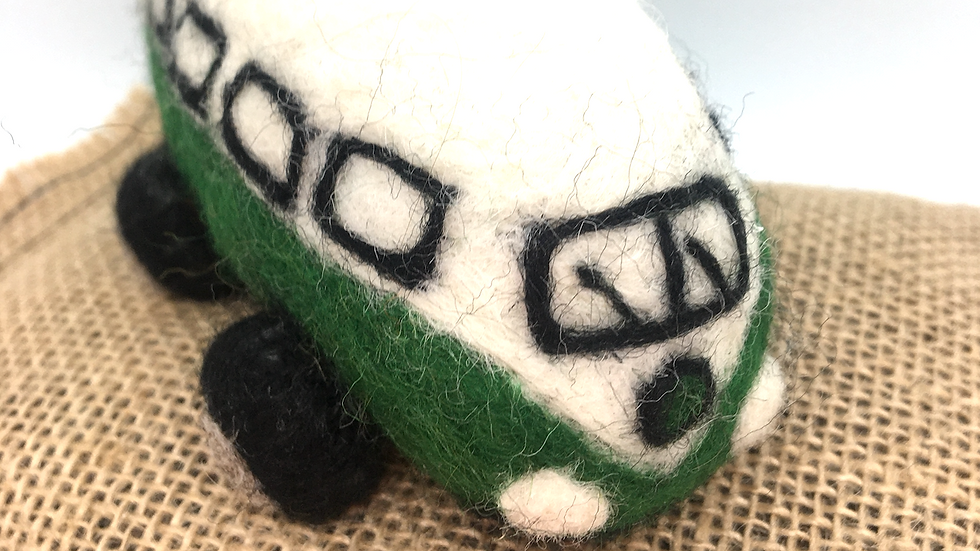 """Camper Van needle felting """"challenging"""" kit with or without LED's"""
