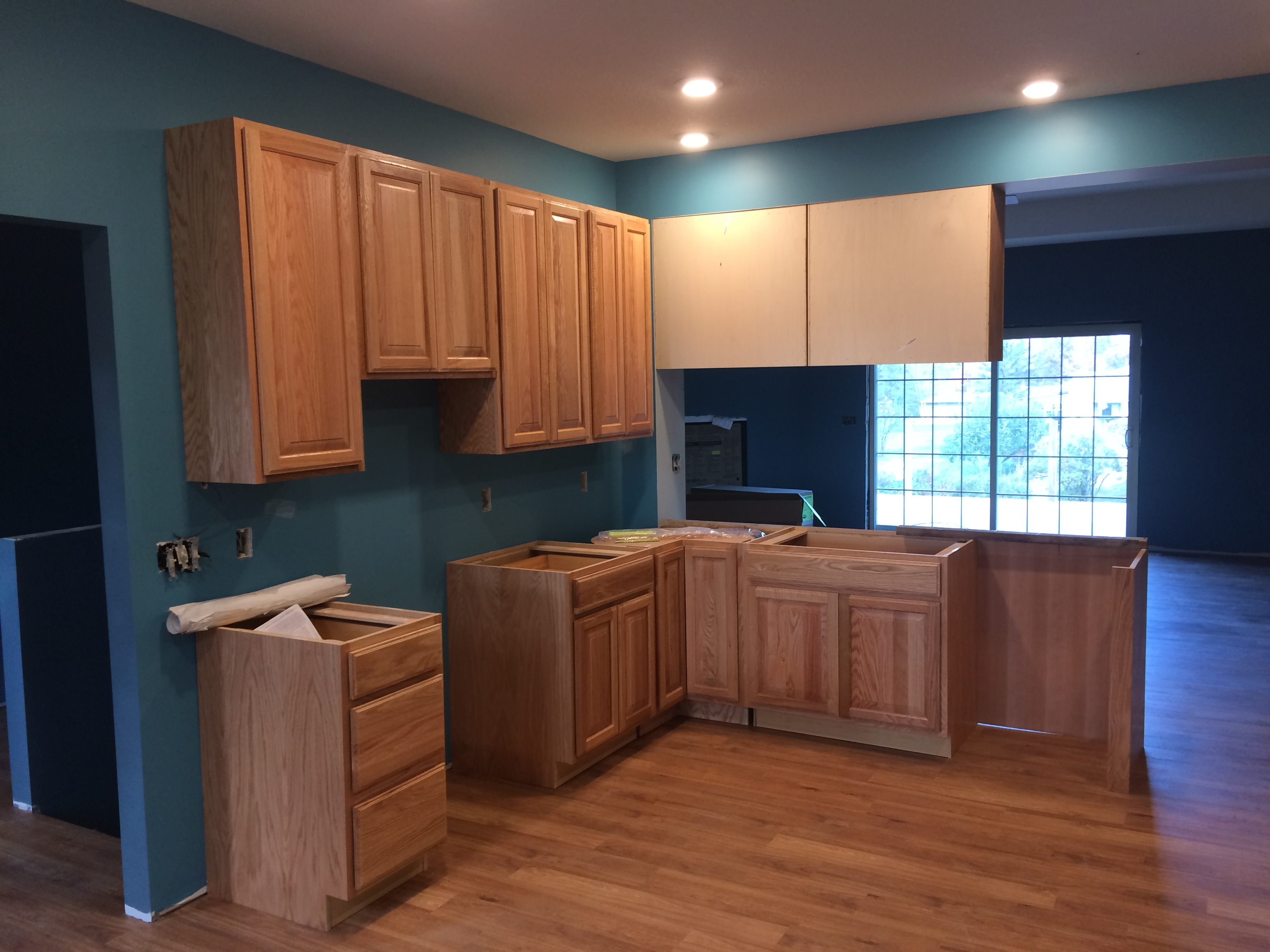 Kitchen cabinets and wood trim
