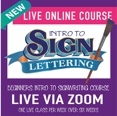 ONLINE Beginner Signwriting Class  -  6 week course  -  price in USD