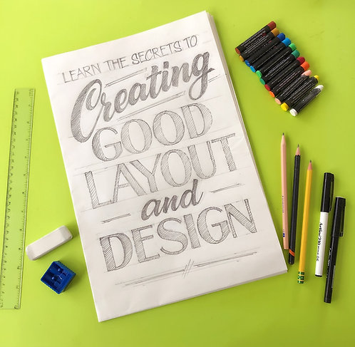 ONLINE - Design & Layout - 6 week course - Price in USD