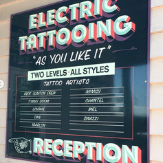 Hand Painted Tattoo Sign
