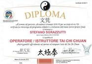 Diplôme d'instructeur et de thérapeute de Tai Chi Chua