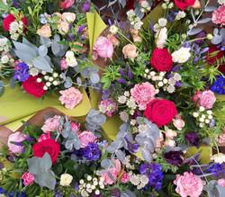 Bouquet in a Gift Bag/ aqua