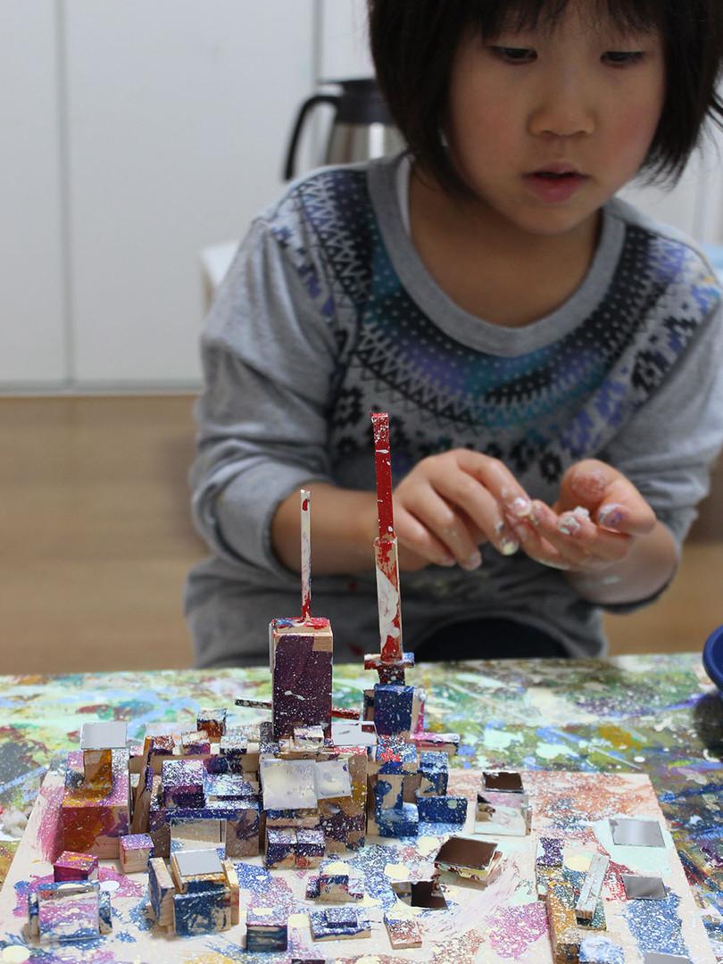 制作風景 幼児