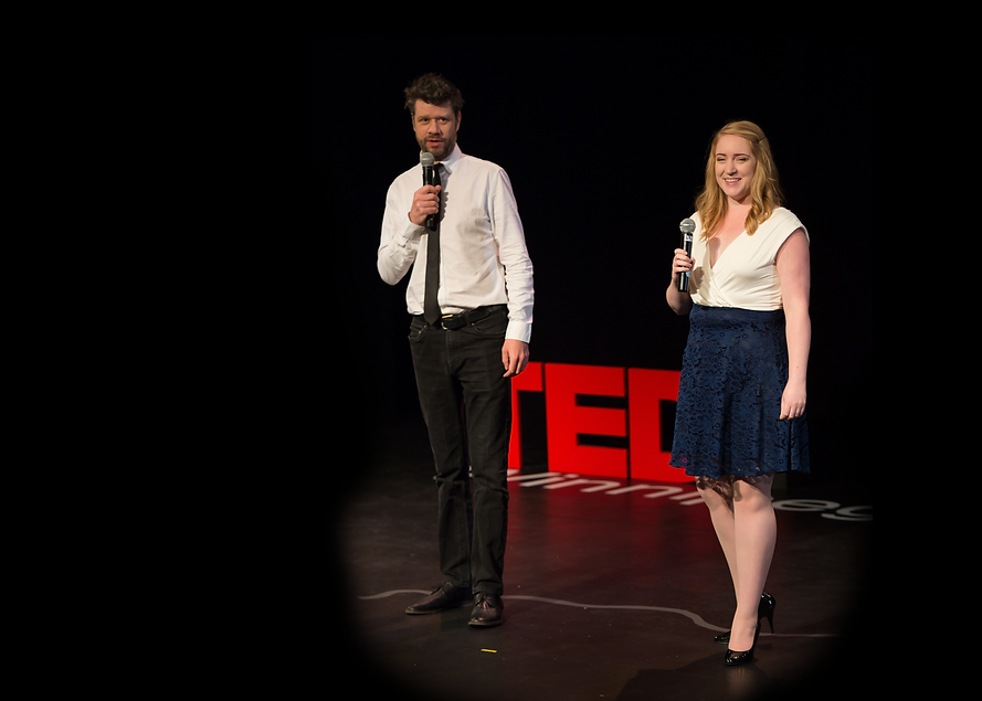 Event hosting and public speaking at TEDx
