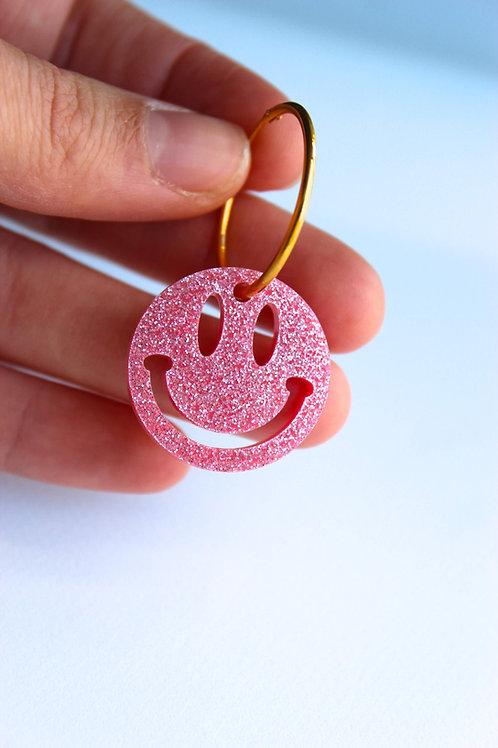 Glitter Smiley Pendant