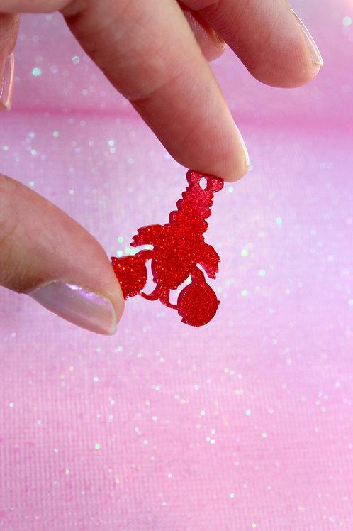 Glitter Lobster Pendant
