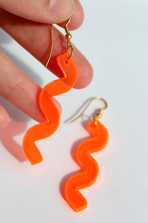 Orange Neon Wave