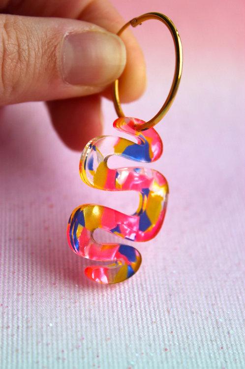 Marble Snake Pendant